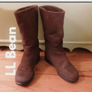 LL Bean Women's Tall Suede Boots -Size -7.5 - GUC